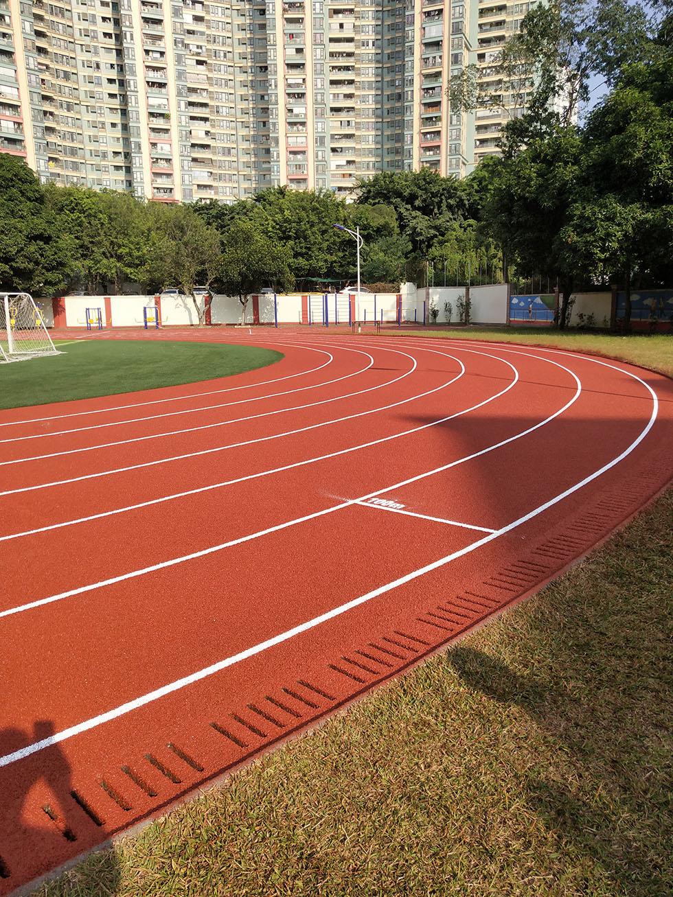 PU跑道材料  浅析预制式学校塑胶跑道的特征