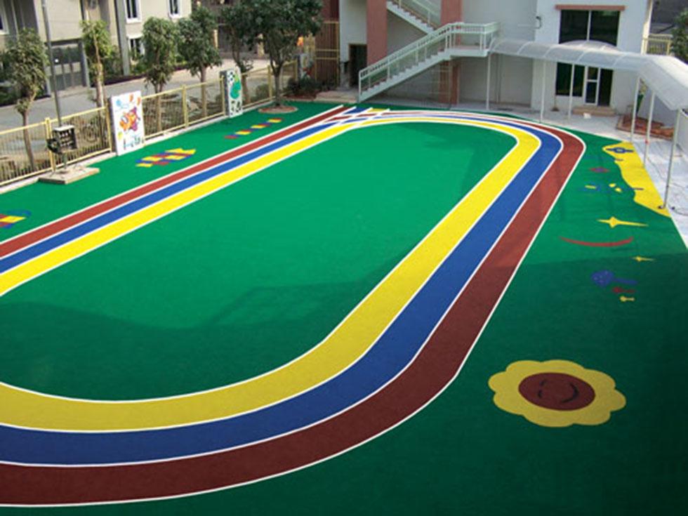 广州奥宏体育丙烯酸球场施工