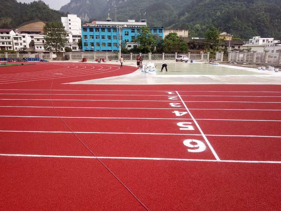 奥宏体育网球场施工  地面画线