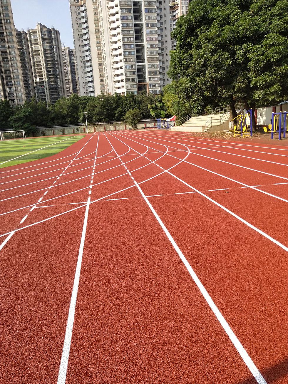 奥宏硅PU球场材料厂家 学校塑胶跑道验收标准有哪方面要注意呢