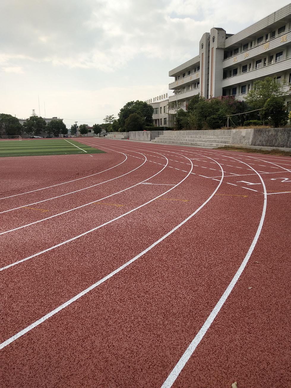 东莞丙烯酸球场材料厂家 东莞复合型学校塑胶跑道工程施工