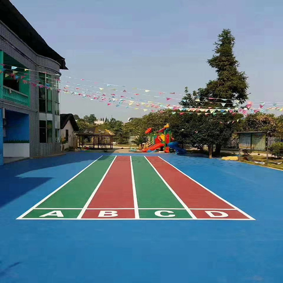 珠海学校塑胶跑道 混合型学校塑胶跑道施工 学校塑胶跑道材料厂家