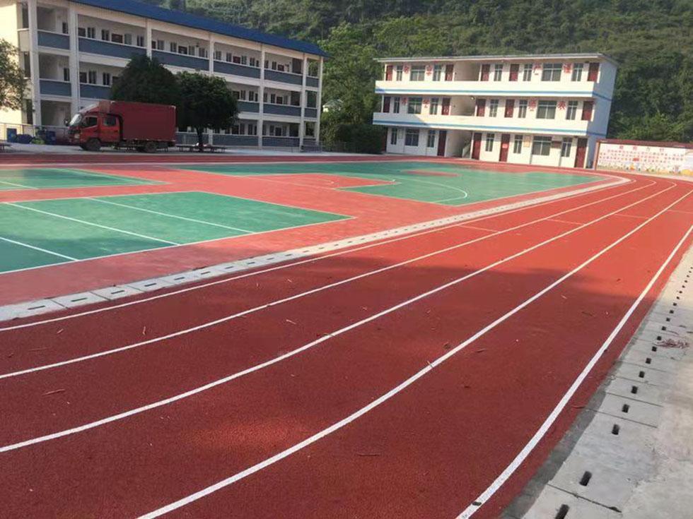 奥宏体育铺设丙烯酸篮球场地规格
