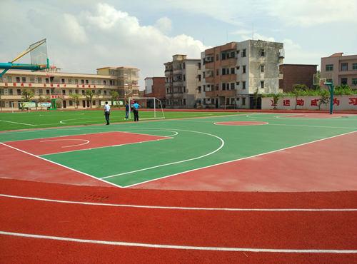 硅PU篮球场材料 篮球场施工 篮球场地建设