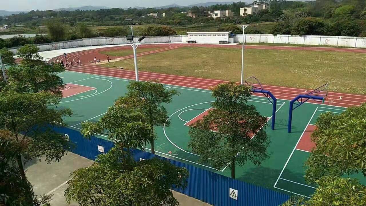 塑胶篮球场 惠州价格优惠的学校塑胶跑道